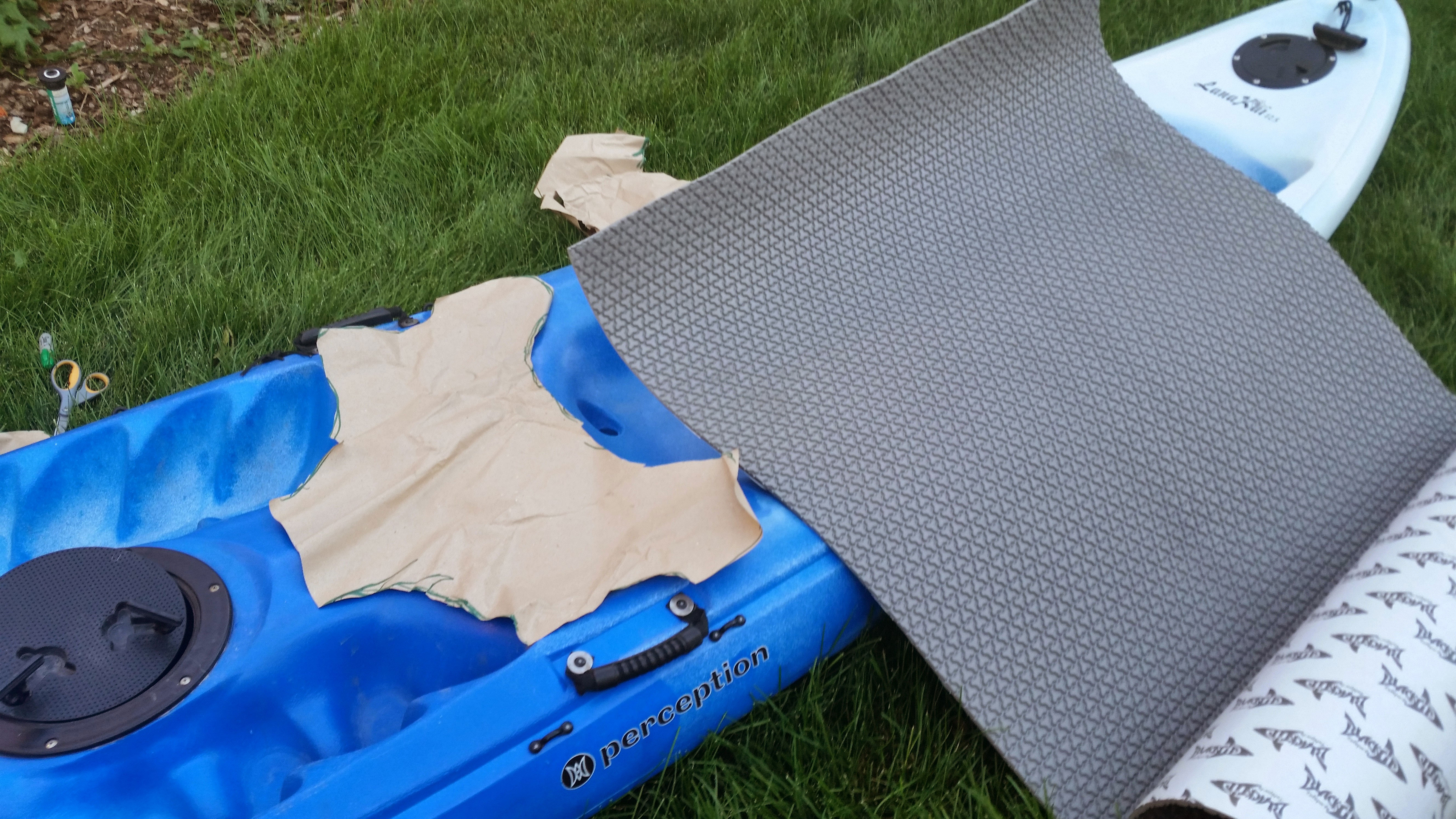 How to install a traction mat on a kayak