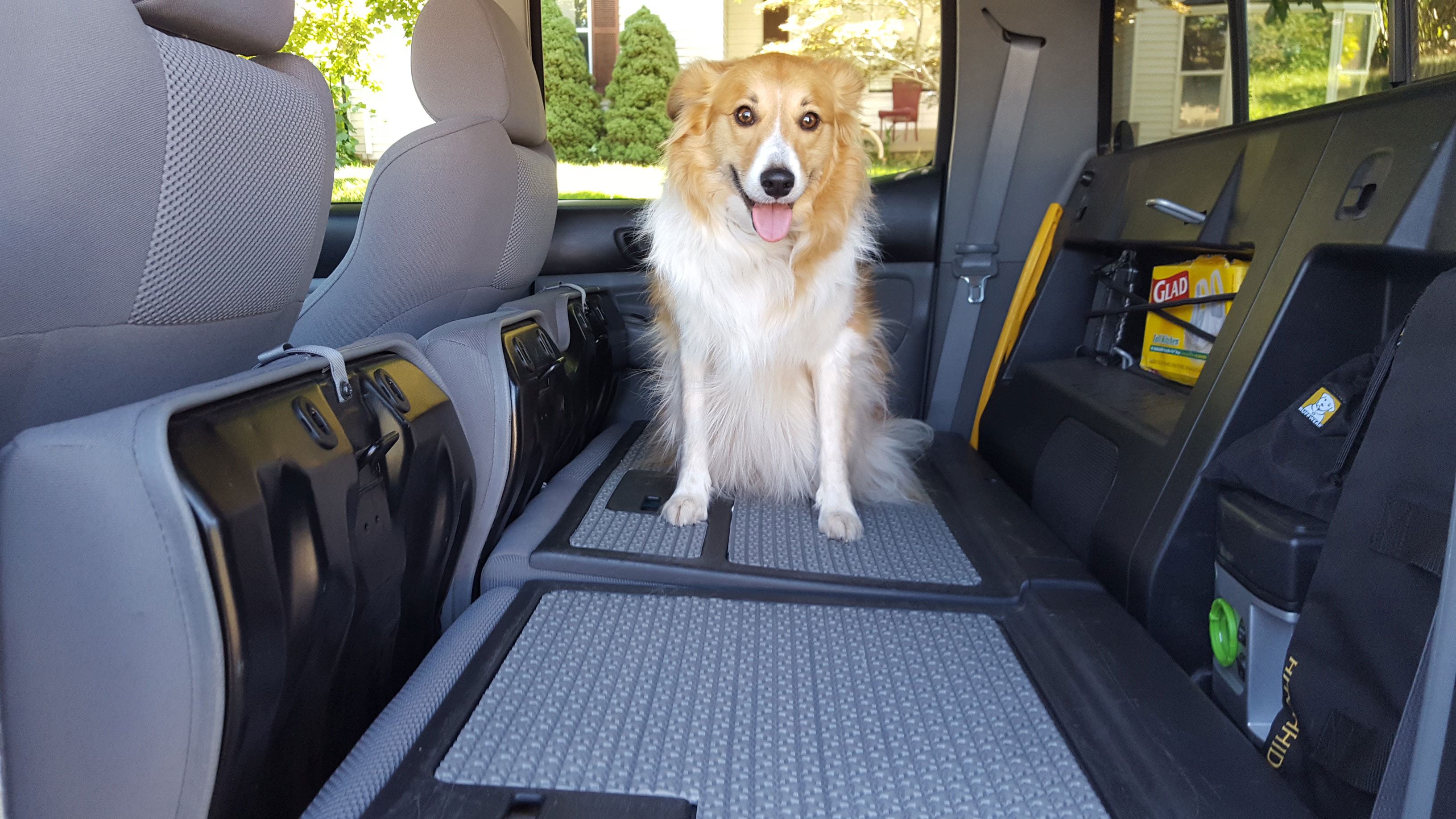 Toyota Tacoma Back Seat Dog Improvement